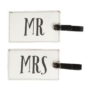 Sada 2 ceduliek na batožinu Sass & Belle Mr And Mrs