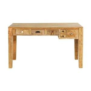 Pracovný stôl z masívneho mangového dreva Massive Home Ella