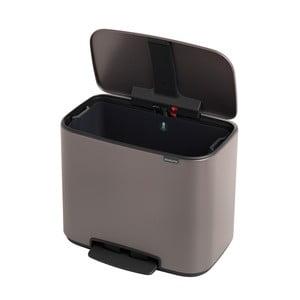 Odpadkový pedálový kôš v platinovej farbe Brabantia Bo, 36 l