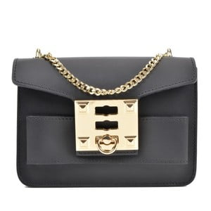 Čierna kožená kabelka Roberta M Ferra Nero