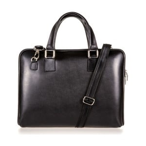 Čierna kožená taška cez rameno Italia in Progress Giulio