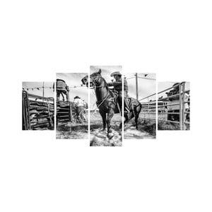 Viacdielny obraz Black&White no. 33, 100x50 cm