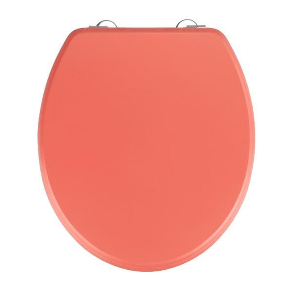 Korálovočervené WC sedadlo Wenko Prima Coral, 41 × 37 cm