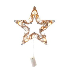 Svietiaca hviezda z ratanu s LED svetlami Unimasa