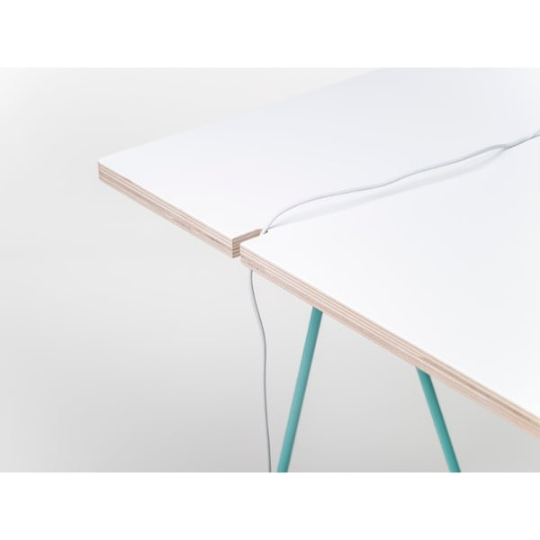 Doska k nohám stolu Studio 130x60 cm, biela