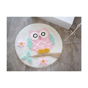 Kúpeľňová predožka Alessia Owl Ecru, Ø90 cm