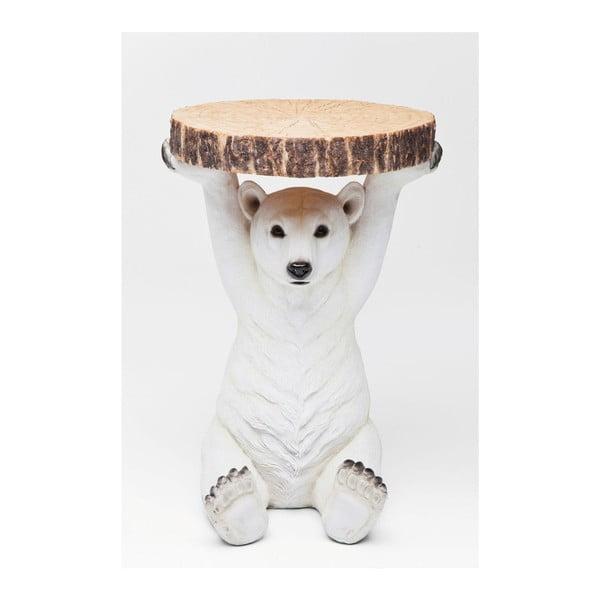 Príručný stolík Kare Design Polar Bear