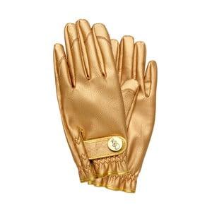 Záhradné rukavice v zlatej farbe Garden Glory, veľkosť S