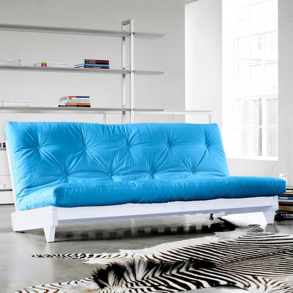 Rozkladacia pohovka Karup Fresh White/Horizon Blue