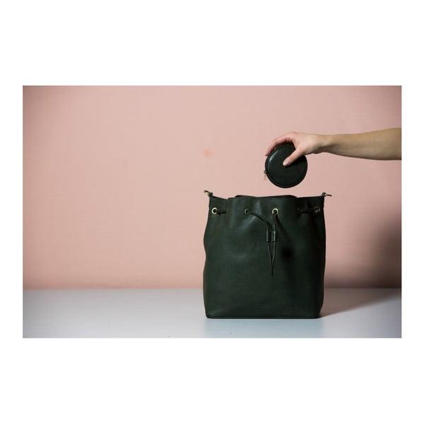 Tmavomodrá kožená kabelka O My Bag The Donna