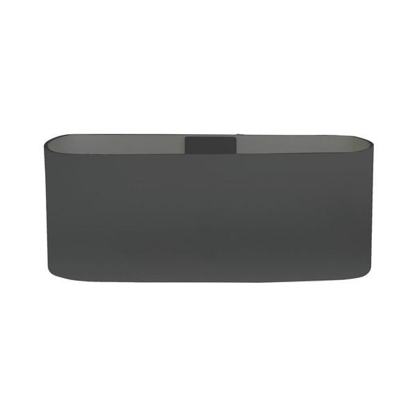 Magnetický kvetináč Truhlík 13x6x7 cm, tmavo sivý