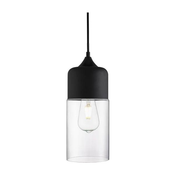 Stropné svietidlo Searchlight Olsson, čierna/čirá