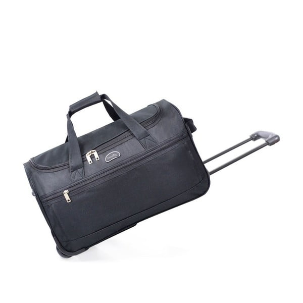 Čierna cestovná taška nakolieskach Hero, 43 l