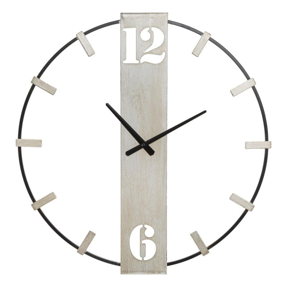 Čierne nástenné hodiny s detailmi v striebornej farbe Mauro Ferretti Silvery