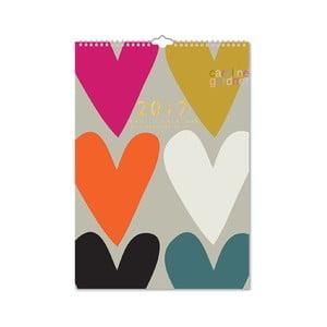 Rodinný kalendár Portico Designs Hearts