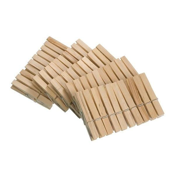 Sada 50 drevených štipcov na bielizeň Wenko Pegs