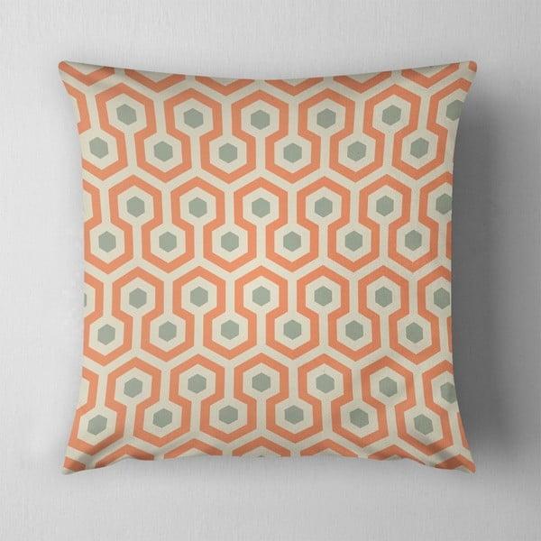 Vankúš Beehive Orange, 43x43 cm