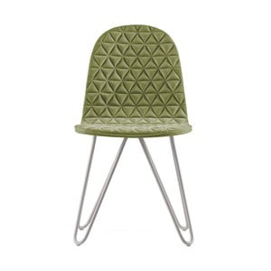 Svetlozelená stolička s kovovými nohami IKER Mannequin X Triangle