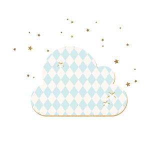 Dekoratívne samolepiace nástenka Dekornik French Cloud Blue Stars