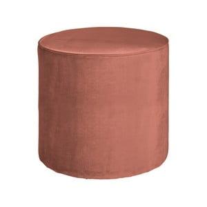 Ružový puf WOOOD Sara, ⌀ 46 cm