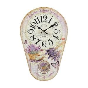 Nástenné hodiny s kyvadlom Lavender, 30x45 cm
