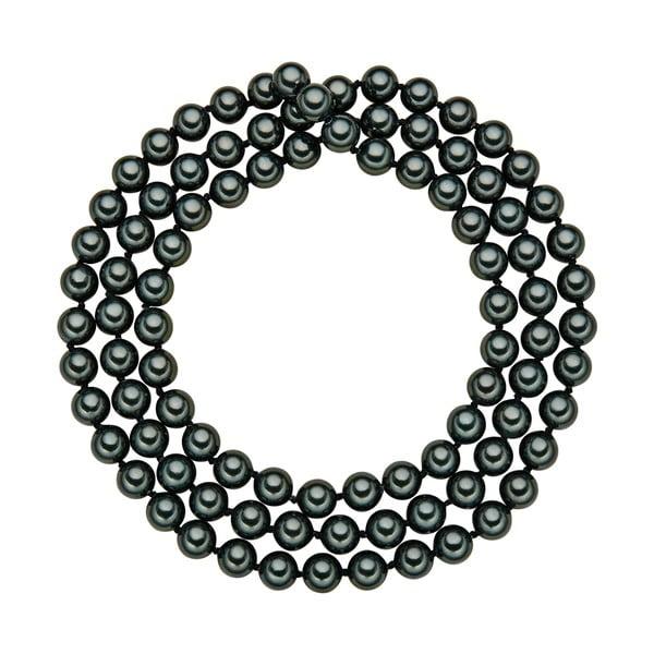 Perlový náhrdelník Muschel, zelené perly 8 mm, dĺžka 90 cm