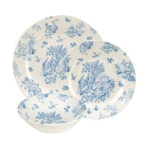 Sada 12 tanierov Toile Blue Mint de Jardin