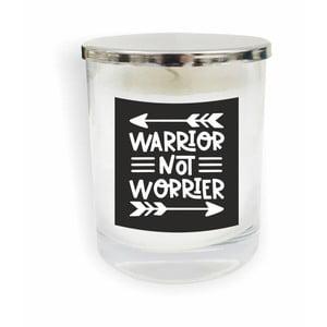 Biela sviečka North Carolina Scandinavian Home Decors Motto Glass Candle V7