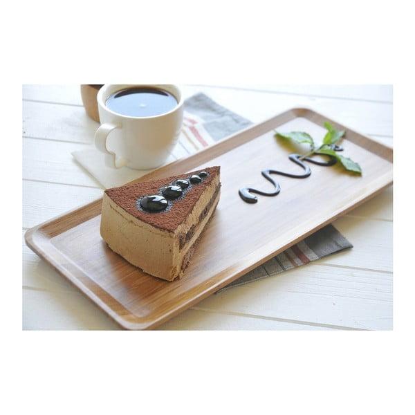 Veľká bambusová tácka Bambum Espresso