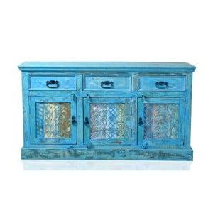 Modrý príborník z recyklovného dreva SOB Atlantic
