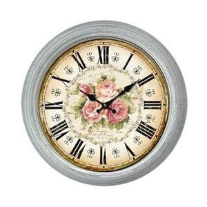 Nástenné hodiny Antic Line King Roses, priemer 36cm