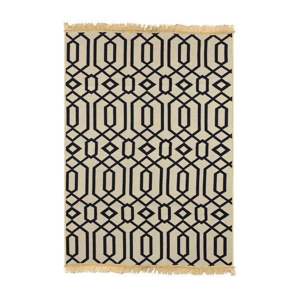Béžovo-tmavomodrý koberec Ya Rugs Kenar, 60x90cm