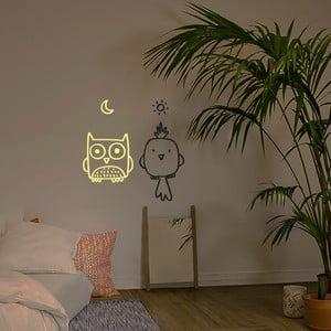 Dekoratívna samolepka na stenu Bird Owl