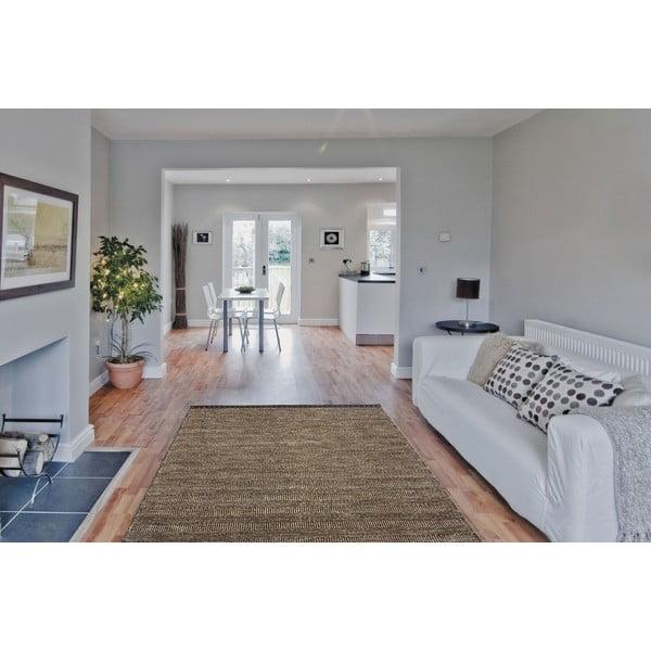 Vlnený koberec Mariposa 120x170 cm, hnedý