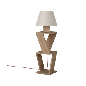 Voľne stojacia lampa v dekore dubového dreva Kozena Oak White