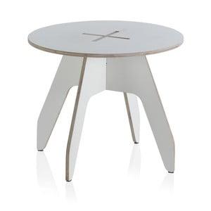 Biely okrúhly detský stôl z preglejky Geese, ⌀ 60 cm