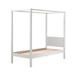 Biela detská posteľ Vipack Pino Canopy, 90 × 200 cm