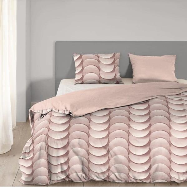 Ružové obliečky na jednolôžko z bavlny Good Morning Emerged, 140×200 cm