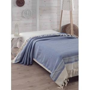 Prikrývka na posteľ Hasir Blue, 200x240 cm