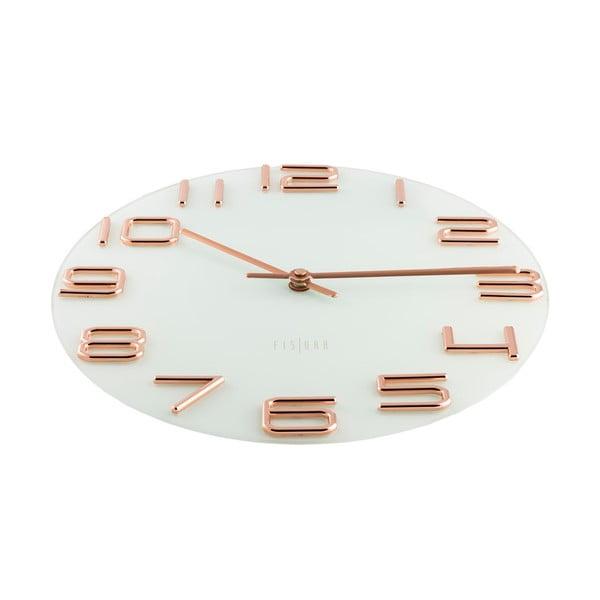 Hodiny Fisura Numbers Copper, 30cm