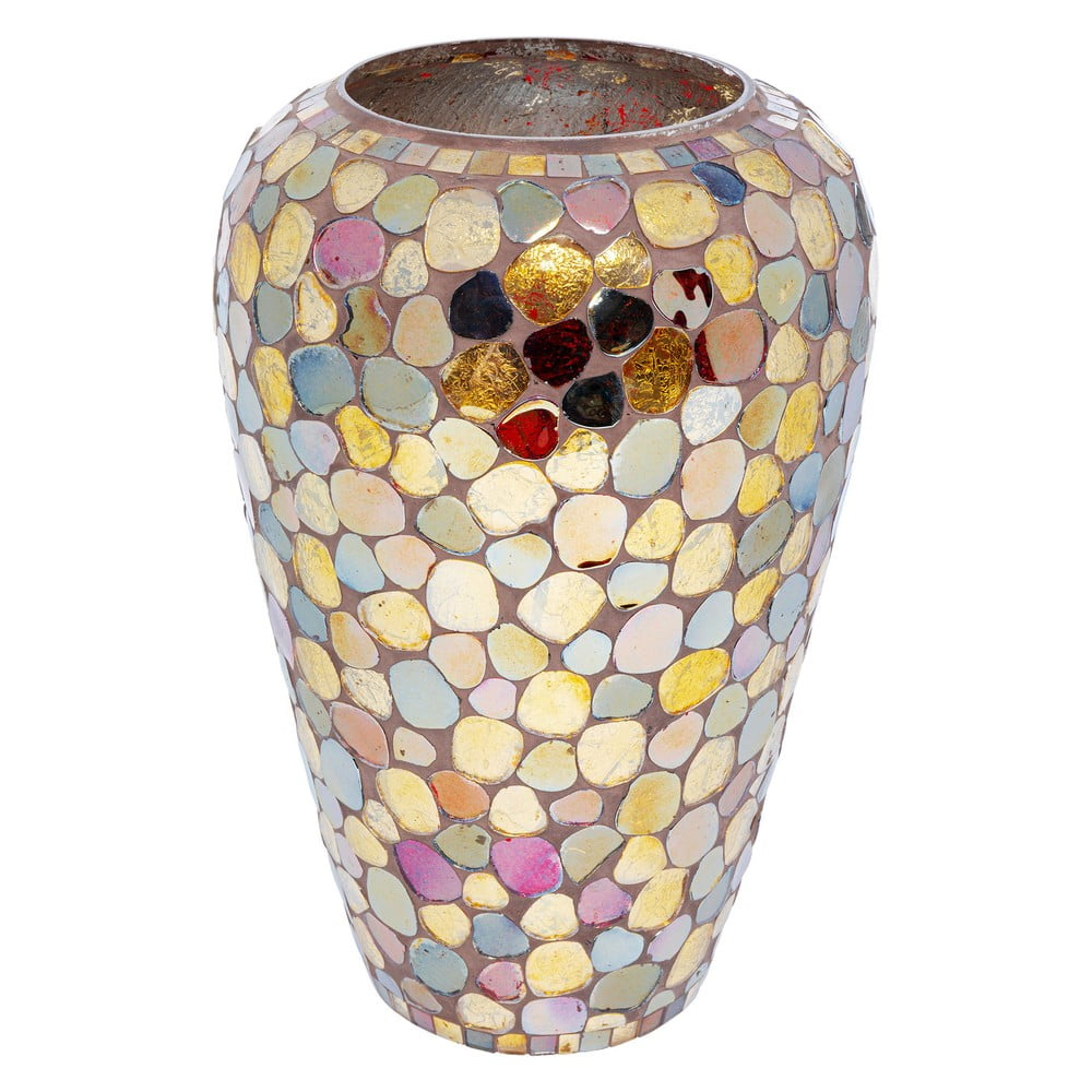 Sklenená farebná váza Kare Design Mosaic Pebbels, výška 30 cm