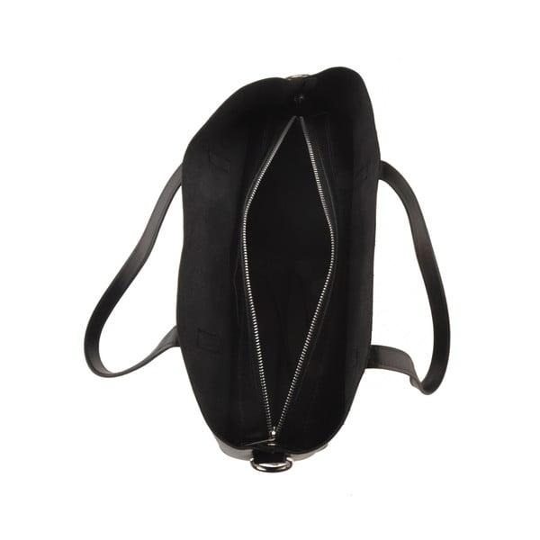 Čierna kožená kabelka Florence Tangor
