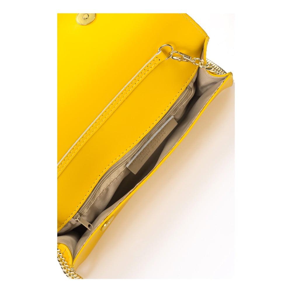 d4cc30e8556 ... Žltá kožená listová kabelka Giorgio Costa Ariana ...