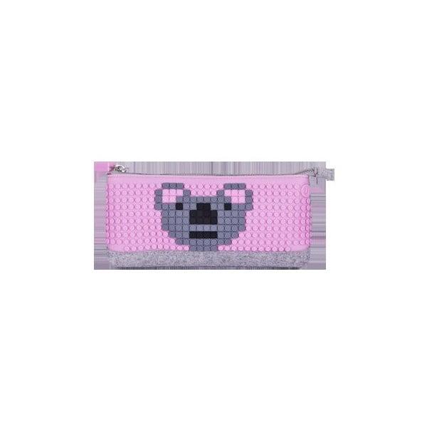 Pixelový perečník, grey/pink