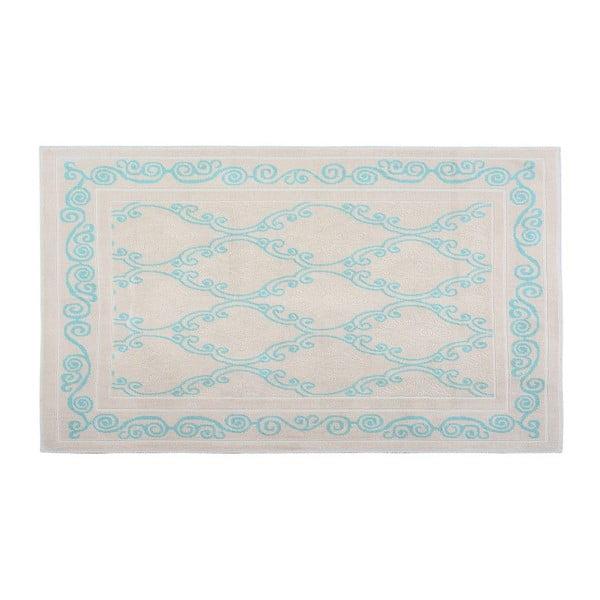 Bavlnený koberec Oluchi 60x90 cm, tyrkysový
