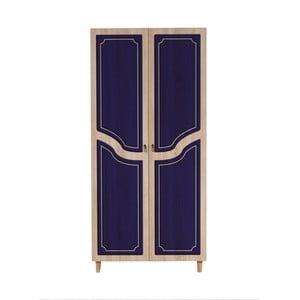 Dvojdverová šatníková skriňa Stil Retro Blue, 90×192 cm