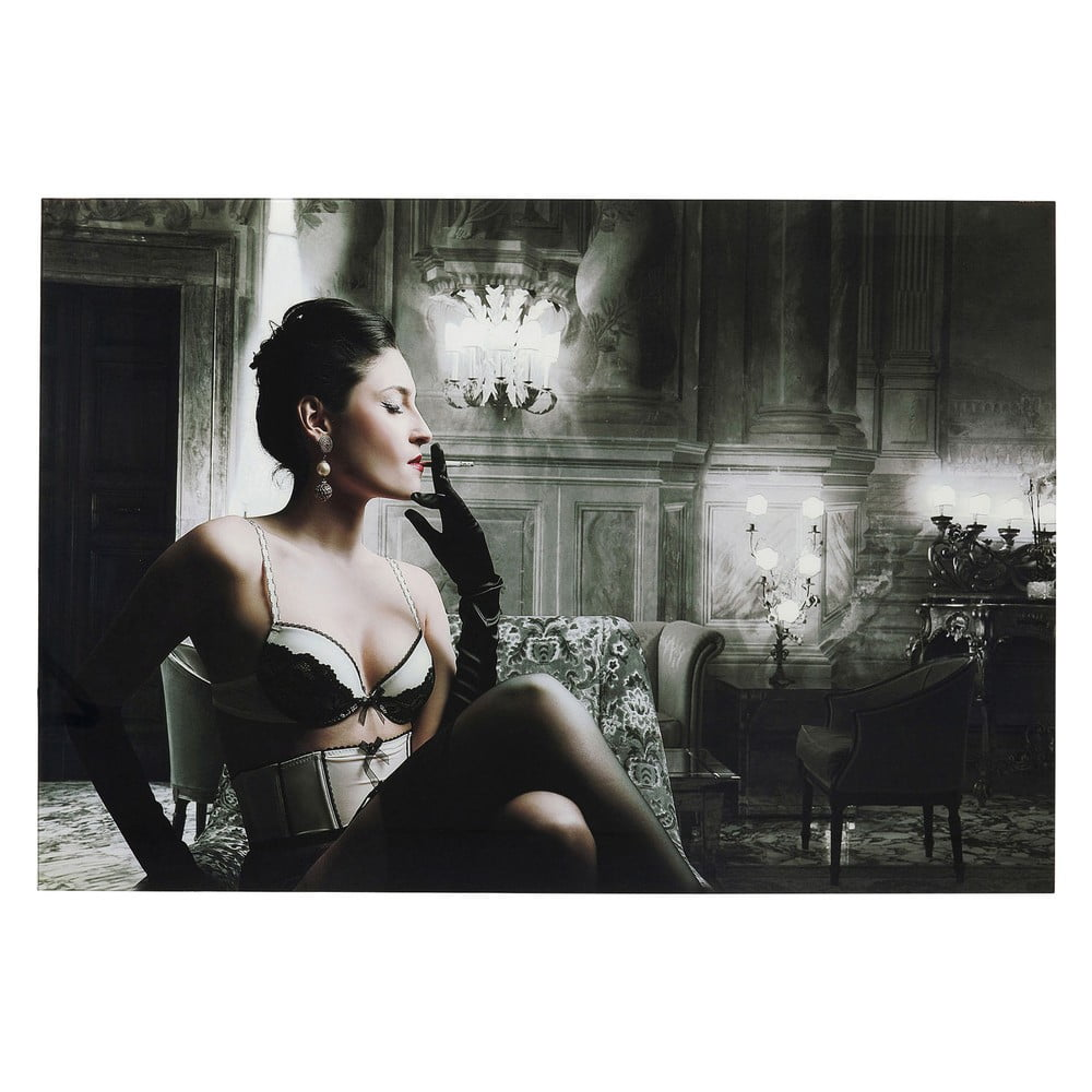 Sklenený obraz Kare Design Dessous Lady, 120 x 80 cm
