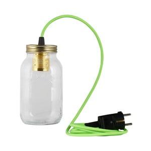 Svietidlo JamJar Lights, žiarivo zelený okrúhly kábel
