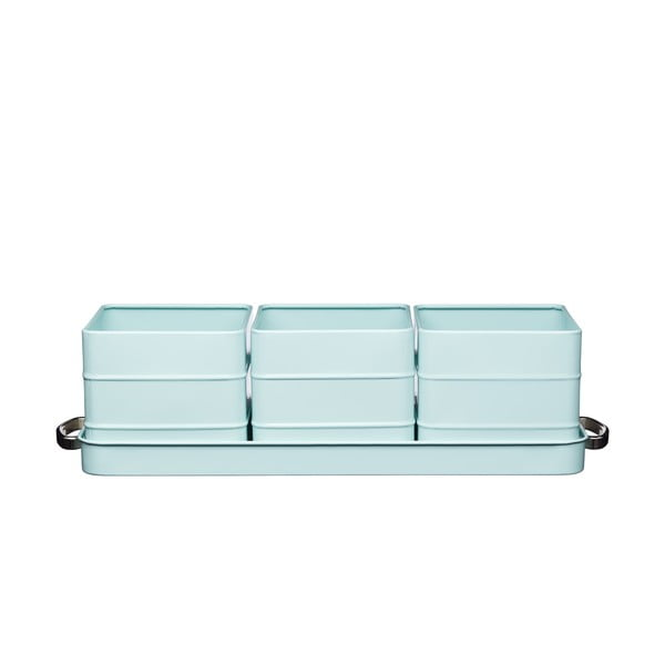 Modrá sada kvetináčov na bylinky Kitchen Craft Living Nostalgia