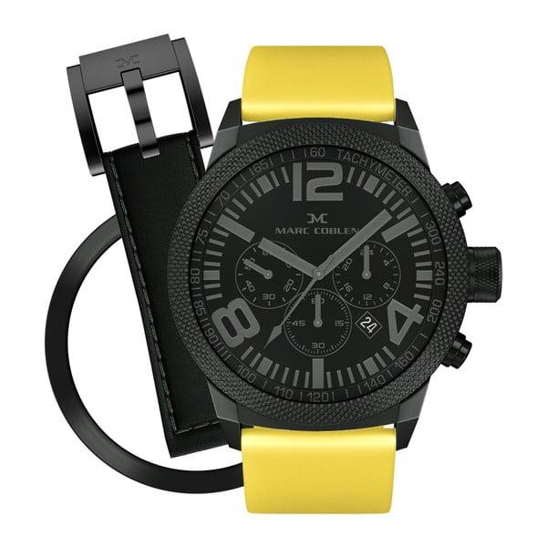 Unisex hodinky Marc Coblen s remienkom a krúžkom na ciferník naviac P63